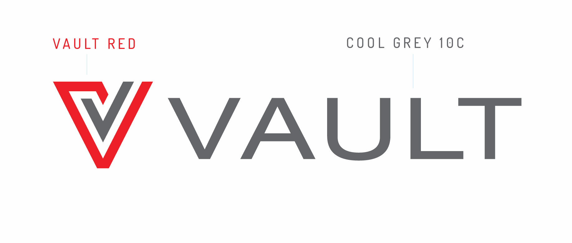 Vault logo colors on white background
