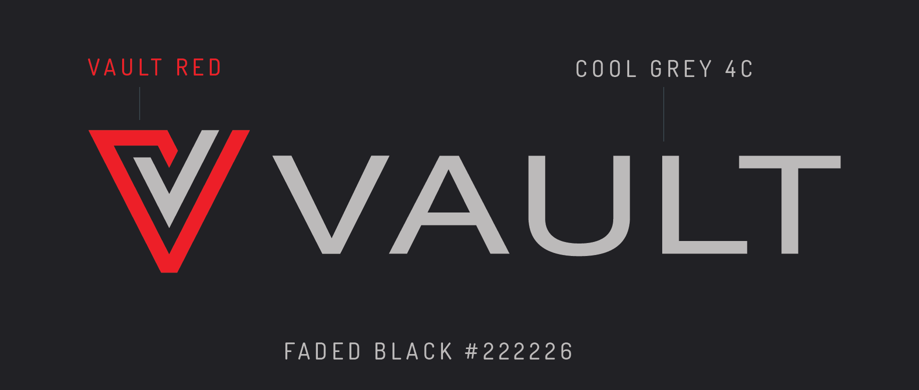 Vault logo colors on faded black background