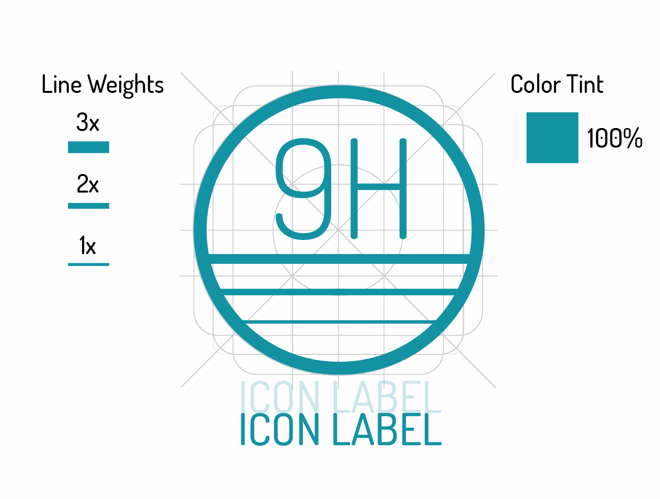 Icon line weight specifications