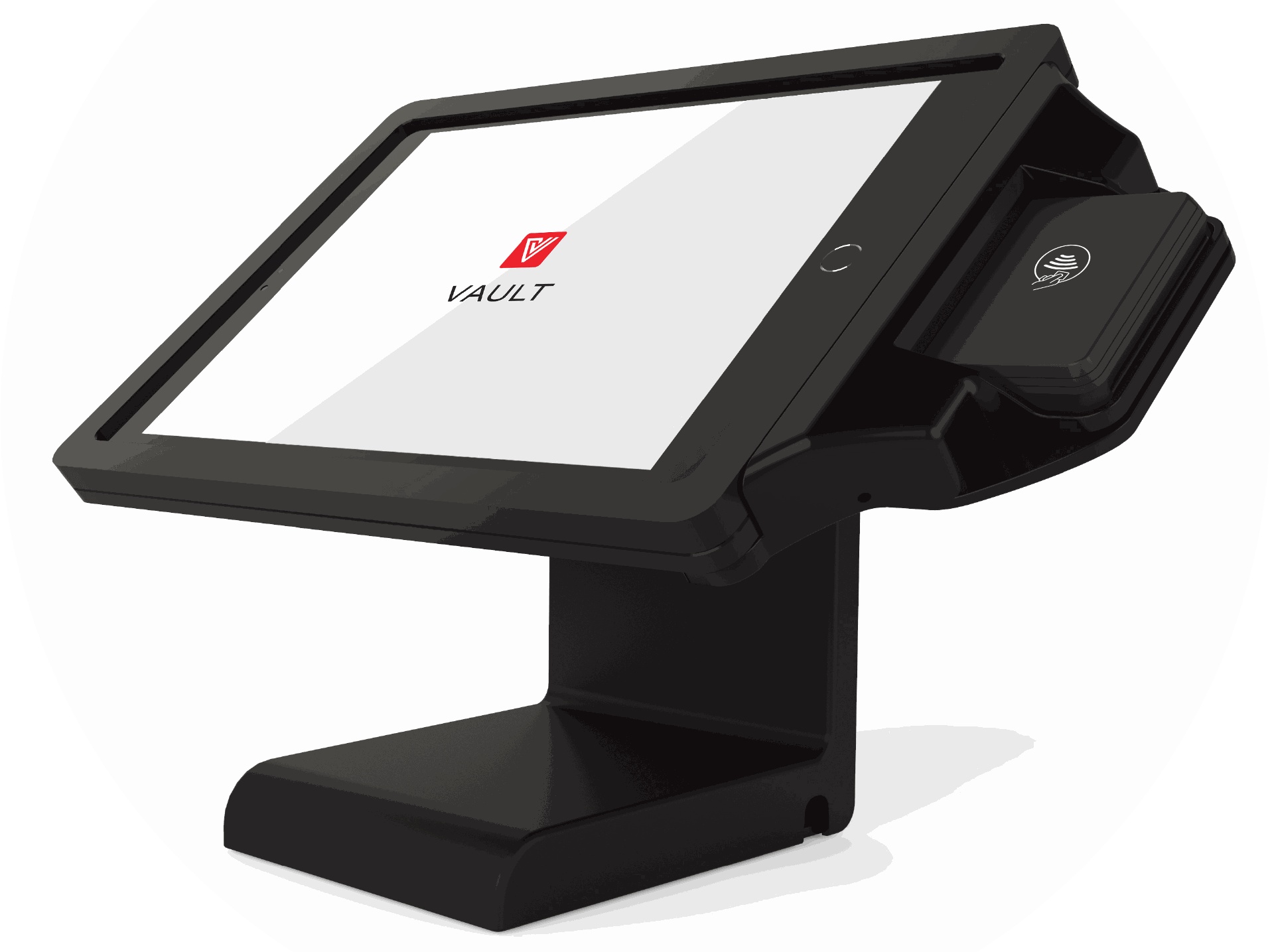 VAULT PRO tablet enclosure with BBPOS Chipper support bracket